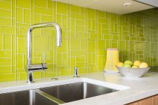 glasstints green tile backsplash