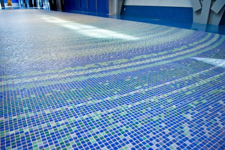 vancouver convention centre glass mosaic floor