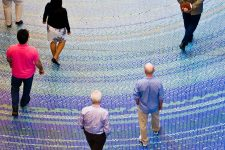 vancouver convention centre glass mosaic floor