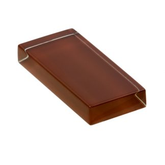 glasshues glossy brown leather