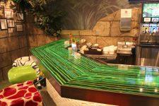 ribbon glass rainforest cafe