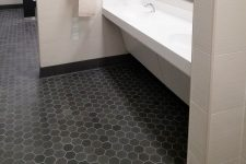 EarthenGLASS Bathroom Floor - VLK Architects