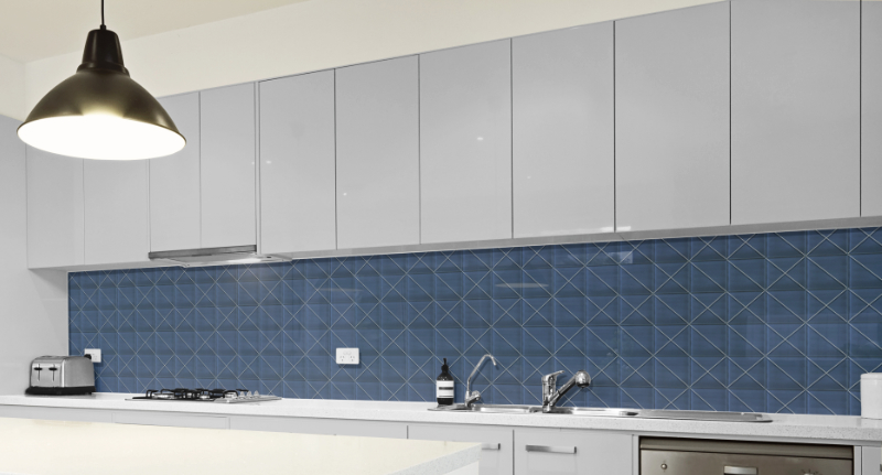 Canyon pattern kitchen backsplash