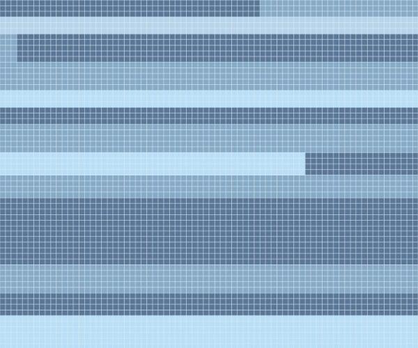 Unbent - 3 color 1x1 mosaic