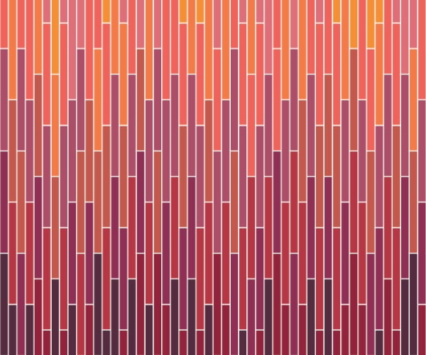 Grazed - 1/2 x 6 gradation mosaic