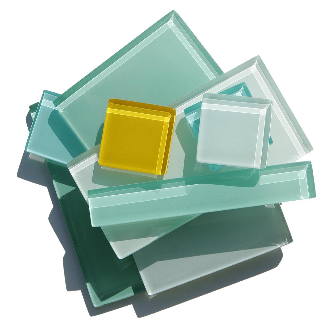 Custom glass tile size