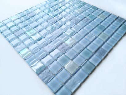 Clearance-Light Blue Blend-(Mix#2)-1x1x6mm-Glossy, Opal and Dune finishes