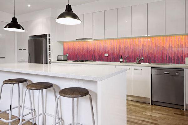 Mosaic Grazed Fireside Mix Kitchen Backsplash
