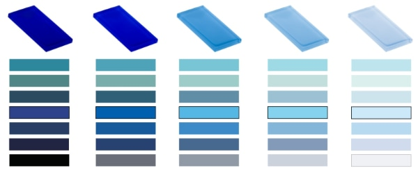 Glass Tile Colors for Pools