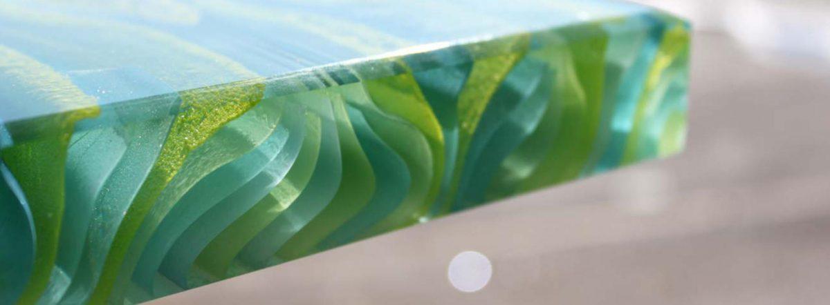 Ribbon Fresh Green Glass
