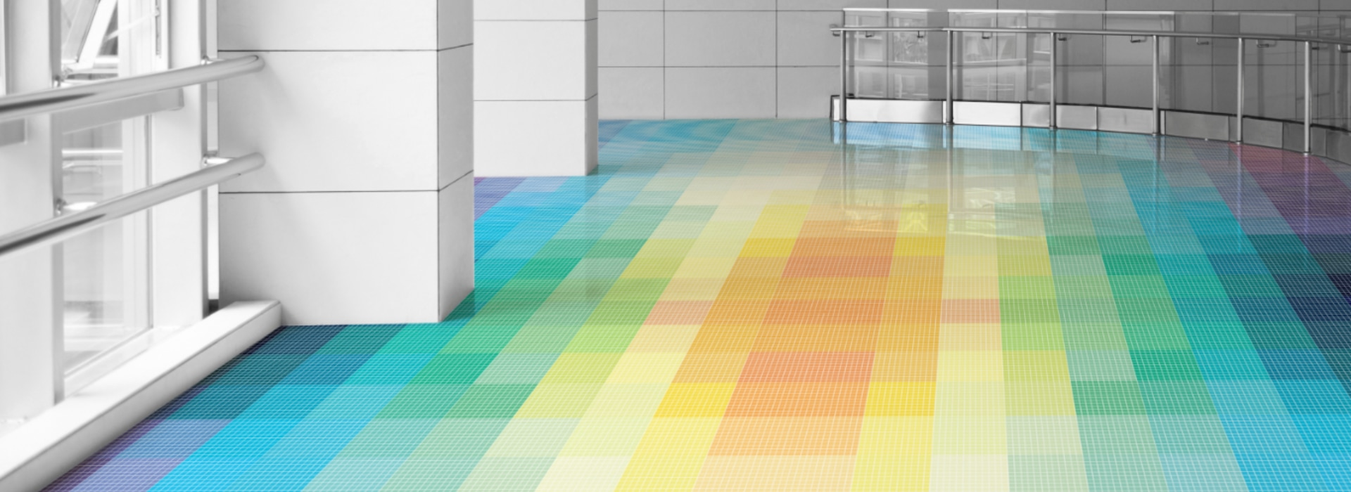 Custom Mosaic Rainbow Lobby Floor