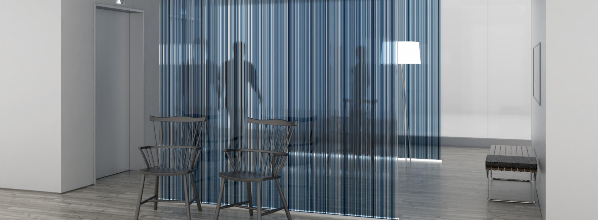 Architectural Glass Partition Rendering