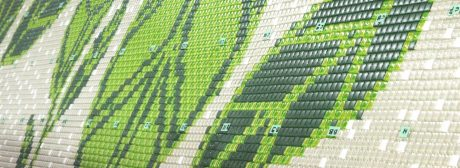 Leaves mosaic mural