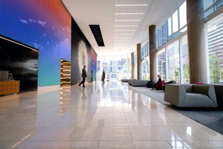Vertical Ombré Lobby