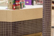 Purdys Chocolatier Counter Glass Tile in Victoria
