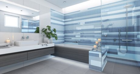 Unbent Blue Bathroom