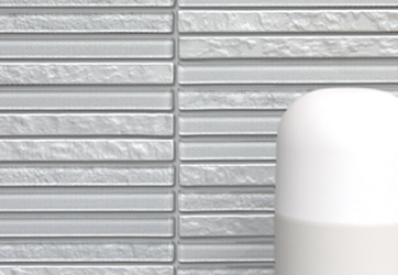 Icestix mosaic glass tiles have 10 striking color blends of glass strips combining a variety of textures and finishes mesh-mounted on sheets for quick, easy installation.