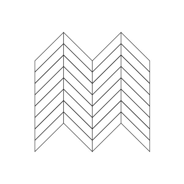 Glass Tile Chevron Assembly / Pattern