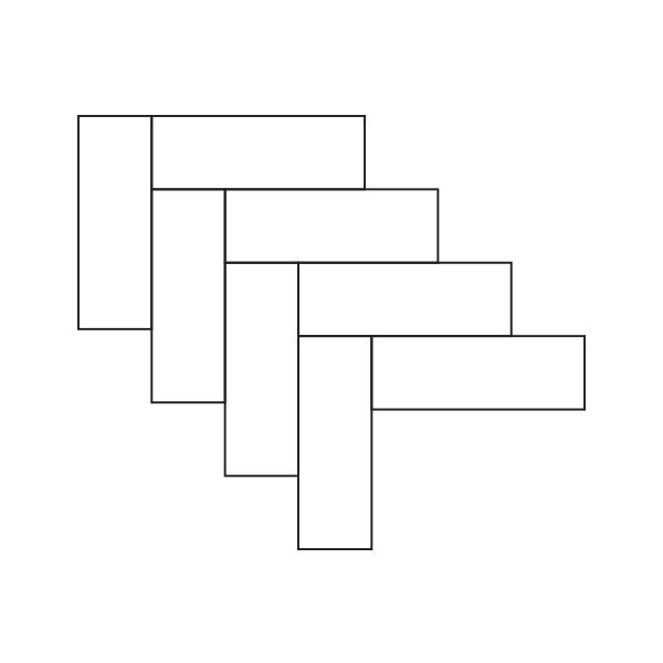 Glass Tile Herringbone Assembly / Pattern