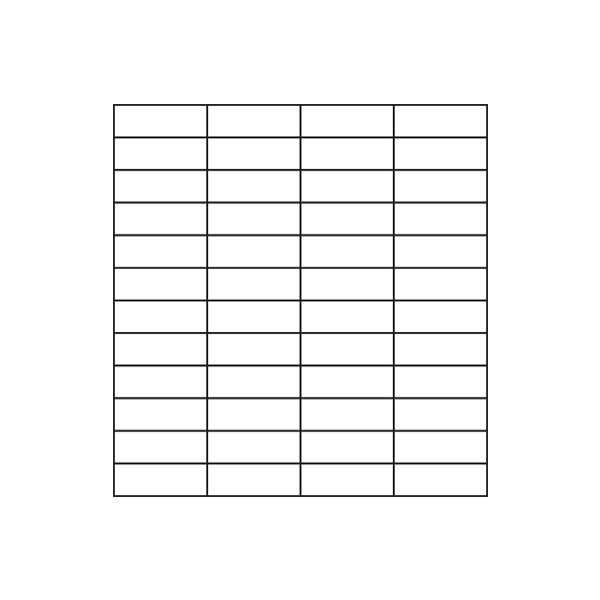 Glass Tile Straight Assembly / Pattern