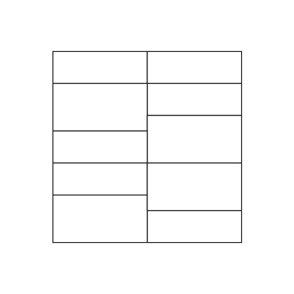 Glass Tile Tenon Assembly / Pattern