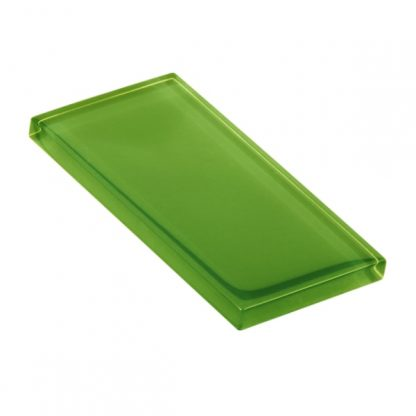Bright Green Glossy Glass Tile