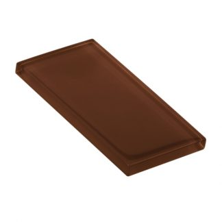 Brown Leather Glossy Glass Tile