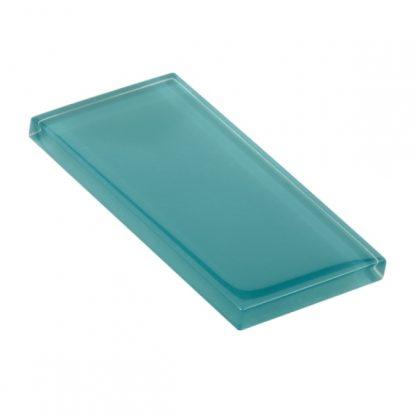 Cascade Green Glossy Glass Tile