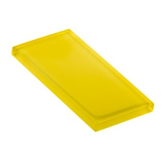 Citric Yellow Glossy Glass Tile