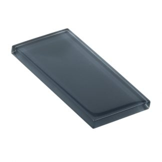 Coal Grey Glossy Glass Tile