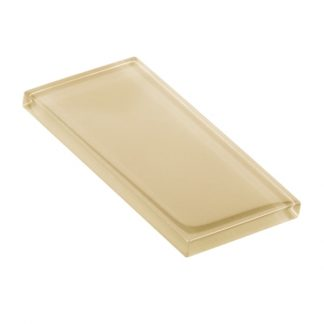 Creamy Vanilla Glossy Glass Tile