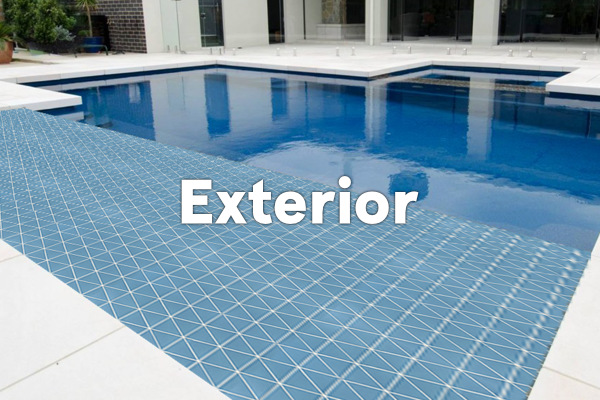 earthenGlass for exterior - pool and spa