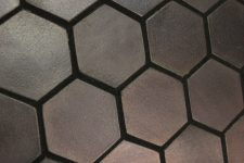 EarthenGLASS Metallic Hexagon Tile Installation