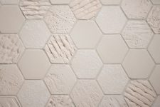 EarthenGLASS Hexagon Textures Tile Installation