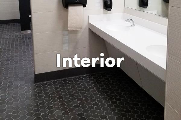 earthenGlass for interior - bathroom floor