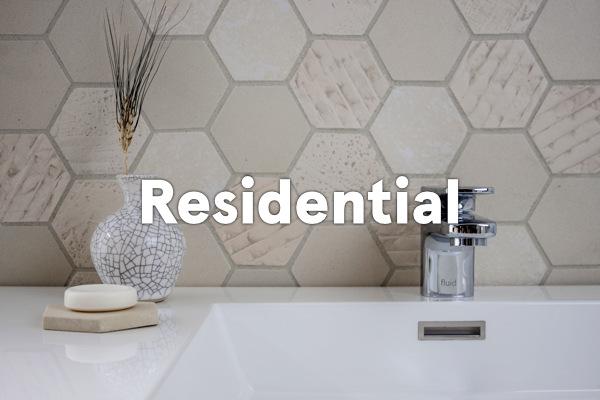 earthenGlass for residential - bathroom backsplash