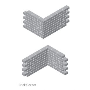 glass brick assembly corner