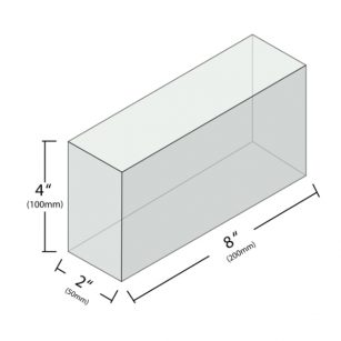 glass brick dimensions