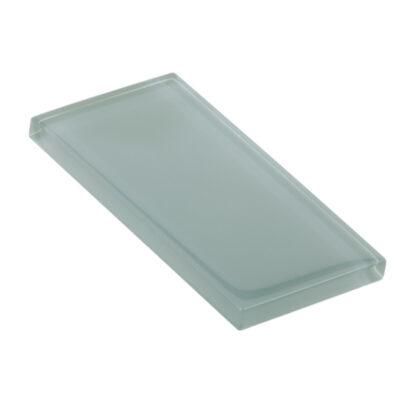 Glasstyle Soft Grey Glossy Glass Tile