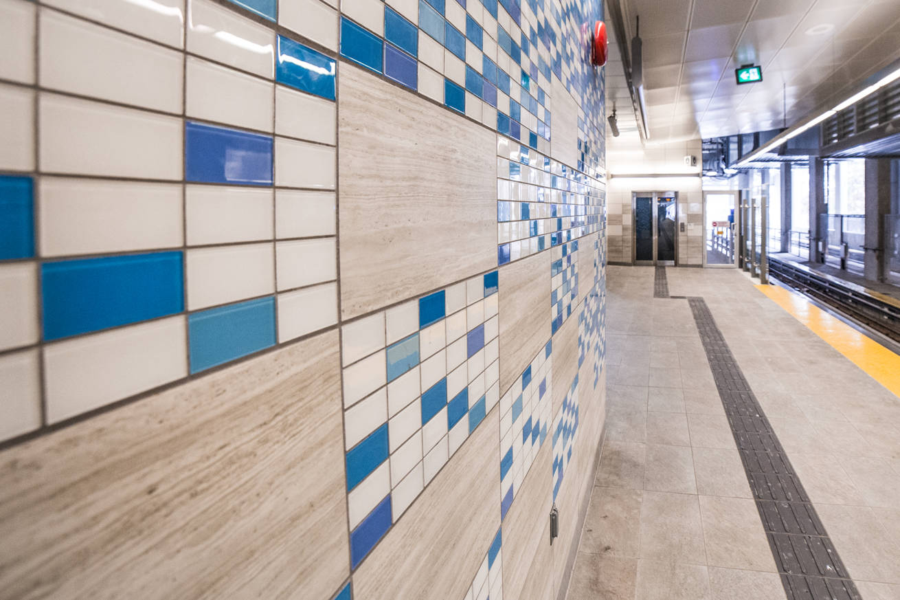Skytrain Inlet Centre Station Wall Glass Tiles