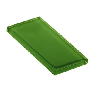 Kale Smoothie Glossy Glass Tile
