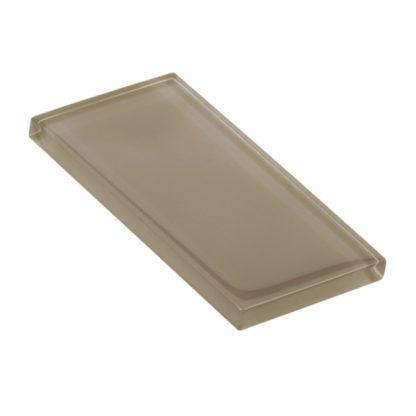 Khaki Glossy Glass Tile