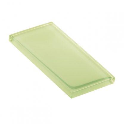 Lime Macaroon Glossy Glass Tile