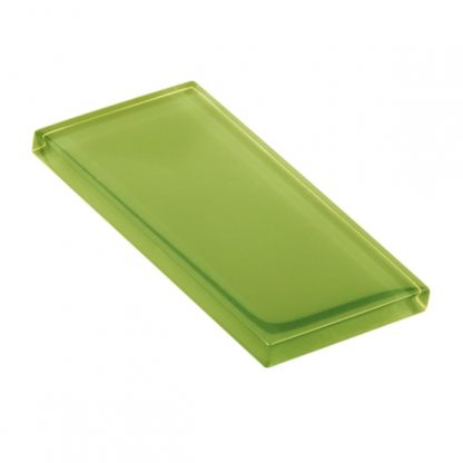 Lime Zest Glossy Glass Tile