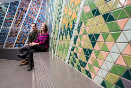 Maple Ridge Community Mosaic Artists:Rebecca Bayer &David Gregory