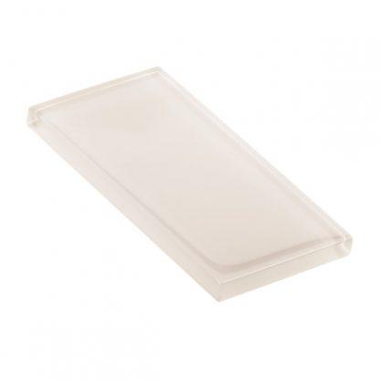 Marzipan Glossy Glass Tile