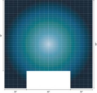 ombré example rendering - radial