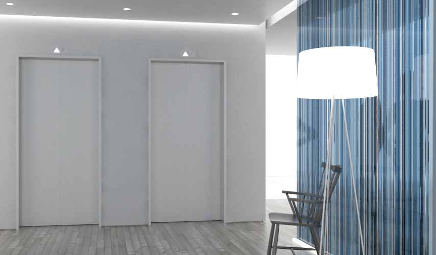 Blue, White, Grey Barcode Glass Partitions