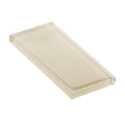 Pine Nut Glossy Glass Tile