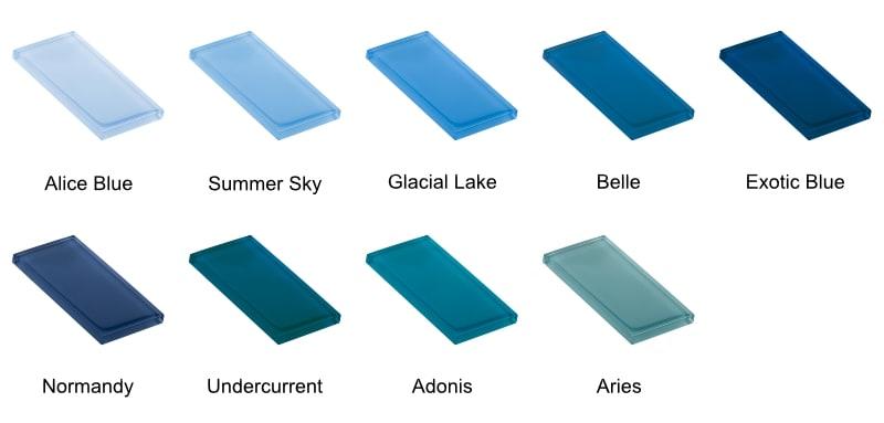 glass tile pool design colors